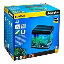 Aqua One EcoStyle 42 Rectangular Aquarium (Black) 28L