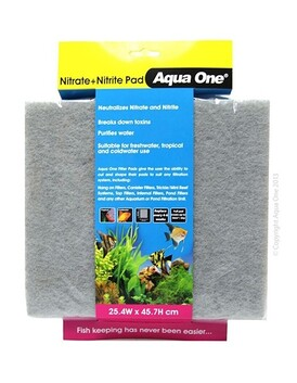 Aqua One Nitrite Nitrate Pad - Self Cut Filter Pad 25.4x45.7cm
