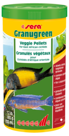 Sera Granugreen Veggie Pellets for East African Cichlids 565g